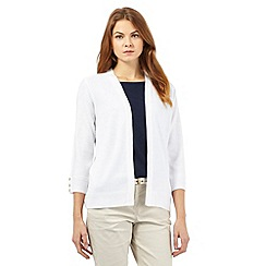 Maine New England - White edge to edge cardigan