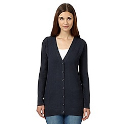 Maine New England - Navy ribbed boyfriend cardigan