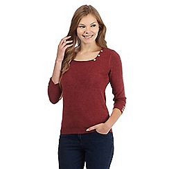 Maine New England - Dark red square neck jumper