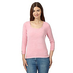 Maine New England - Pale pink square neck jumper