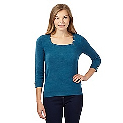 Maine New England - Turquoise square neck jumper