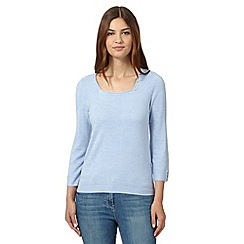Maine New England - Light blue square neck jumper