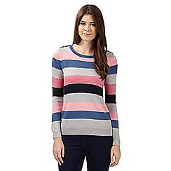 Maine New England - Pink striped soft knit jumper