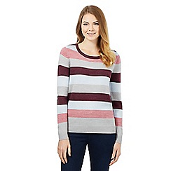 Maine New England - Purple striped jumper