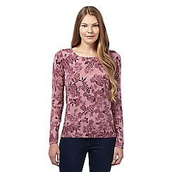 Maine New England - Light pink floral ultra soft crew neck jumper