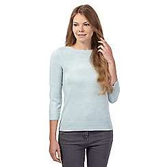 Maine New England - Pale green soft button detail jumper