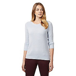 Maine New England - Light blue slash neck jumper
