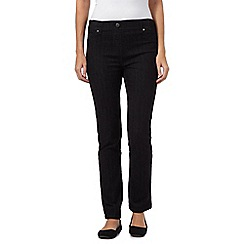 Maine New England - Black ribbed waistband jeggings