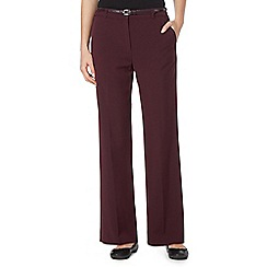 Maine New England - Purple belted 'Pablo' trousers