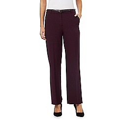 Maine New England - Plum 'Pablo' trousers with belt