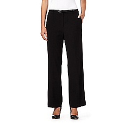 Maine New England - Black belted 'Pablo' trousers