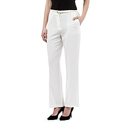 Maine New England - Ivory belted 'Pablo' trousers