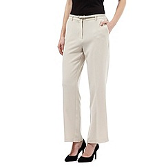 Maine New England - Beige belted 'Pablo' trousers