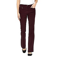 Maine New England - Purple two-way stretch trousers