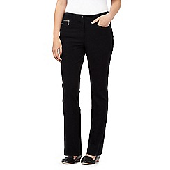 Maine New England - Black bi-stretch trousers