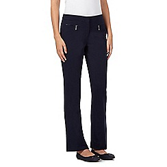Maine New England - Navy bit stretch zip trousers