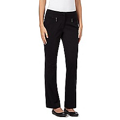 Maine New England - Black bit stretch zip trousers