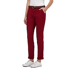 Maine New England - Dark red belted chinos