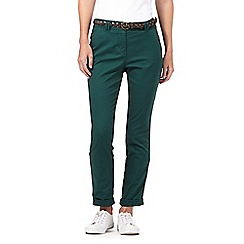 Maine New England - Dark green belted chinos