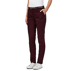 Maine New England - Purple belted chinos