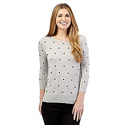 Maine New England - Grey polka dot jumper