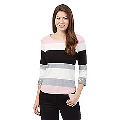 Maine New England - Pale pink striped top