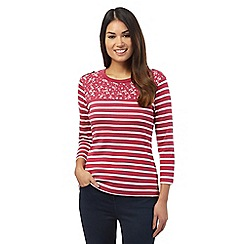 Maine New England - Dark pink striped top