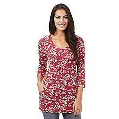 Maine New England - Dark pink floral tunic