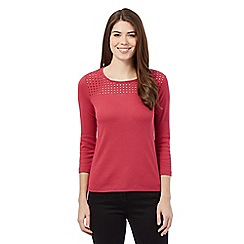 Maine New England - Dark pink broderie top