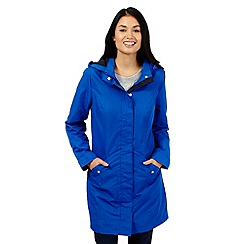 Maine New England - Blue shower resistant parka coat