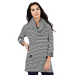 Maine New England - Navy striped tunic and snood