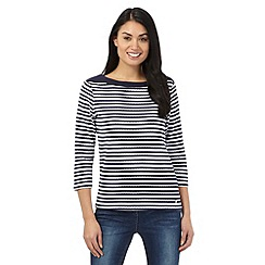 Maine New England - Navy striped boat top