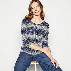 Maine New England - Navy shell print scoop top