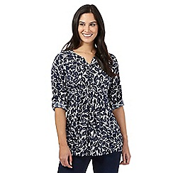 Maine New England - Navy leaf print tunic