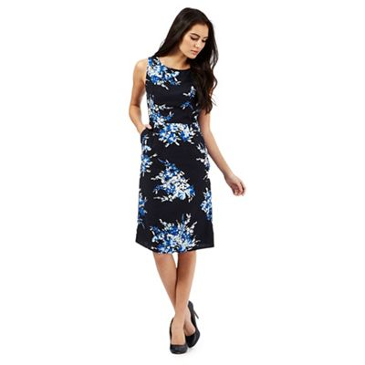 Maine New England Navy floral print shift dress