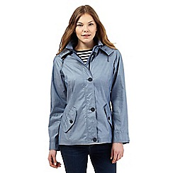 Maine New England - Blue striped lining print coat