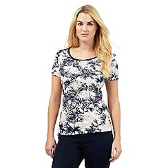 Maine New England - Navy palm scoop top