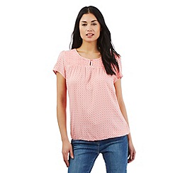 Maine New England - Peach geometric print top