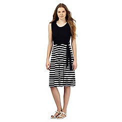 Maine New England - Navy striped print dress