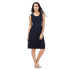 Maine New England - Navy broderie yoke dress