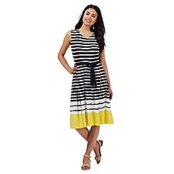 Maine New England - Navy and white striped dress
