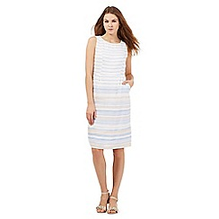 Maine New England - White and blue striped print dress