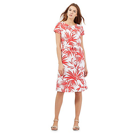Maine New England - Red palm print dress
