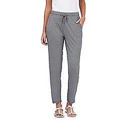 Maine New England - Navy diamond print trousers