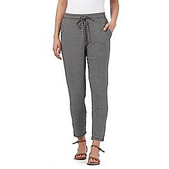 Maine New England - Black diamond print ankle grazer trousers