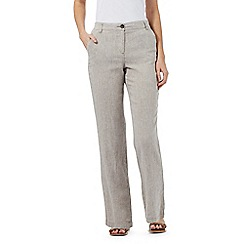 Maine New England - Taupe linen blend trousers