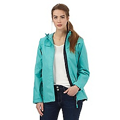Maine New England - Turquoise shower resistant hideaway jacket