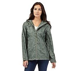 Maine New England - Green shower resistant hideaway jacket