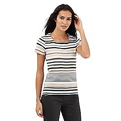 Maine New England - Multi-coloured striped print square neck top