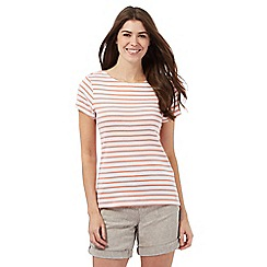 Maine New England - Dark peach striped top